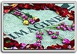 Imagine Strawberry Fields John Lennon Memorial Central Park New York - Motivational Quotes Fridge Magnet - Calamita da frigo