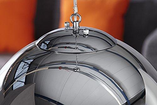 Große Design Hängelampe GLOBE 40cm Glas chrom Kugelleuchte - 9