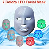 Carer 3 Color LED Mask Photon Light Skin Rejuvenation Therapy Facial Mask Photon