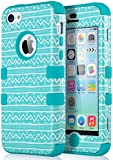 iPhone 5c Case, ULAK iPhone 5c Case High Protection Hybrid 3 Layer Soft Silicone Inner Case Hard Cover for Apple iPhone 5C (Wave-Blue)