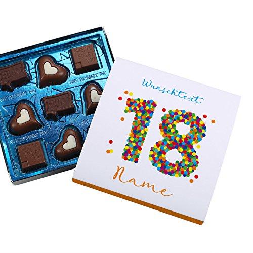 Lindt Geschenk-Pralinen zum 18. Geburtstag - in persönlicher Banderole mit Wunschtext und Name