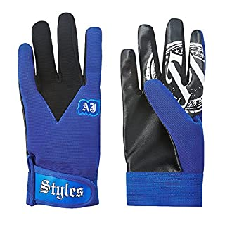 AJ Styles P1 Logo Pro Wrestling Fight Gloves-Blue