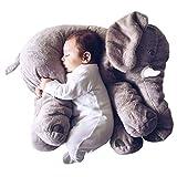 smartpillow Kuscheltier Elefant | 60cm Plüschtier Kissen groß grau Geschenk für Kinder Baby