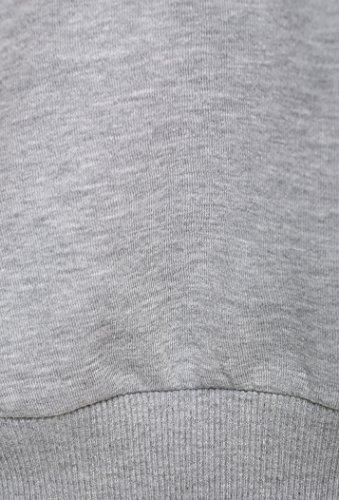 Hype con scritta donna corto Felpa con cappuccio - Grigio/Nero, 10