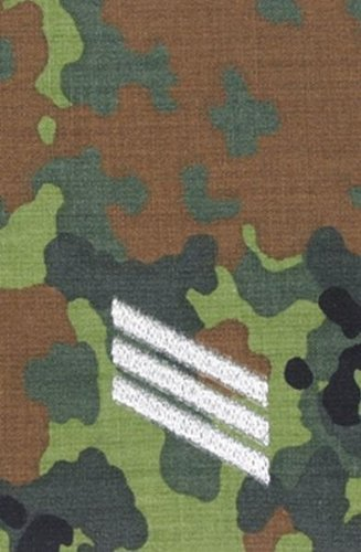Bundeswehr Rangschlaufen, Hauptgefreiter, flecktarn, silber bestickt