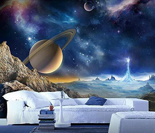 Star Space Wallpaper KTV Hotel Theme Hintergrundbild 3D Fresko-Deckenbild, 200 × 150 cm