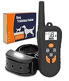 Zvpod Erziehungshalsband Hunde mit Fernbedienung - für Großen Kleinen Mittlen Hund mit Ton Vibration Nachtlicht Wiederaufladbar und Wasserdicht