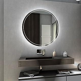 Badspiegel mit LED Beleuchtung Rund von Spiegel-Magic | Wandspiegel Badezimmerspiegel | Durchmesser 55 cm | Singapur Design