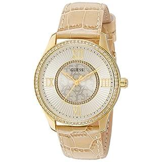 Guess Damen Analog Quarz Uhr mit Leder Armband W0768L2