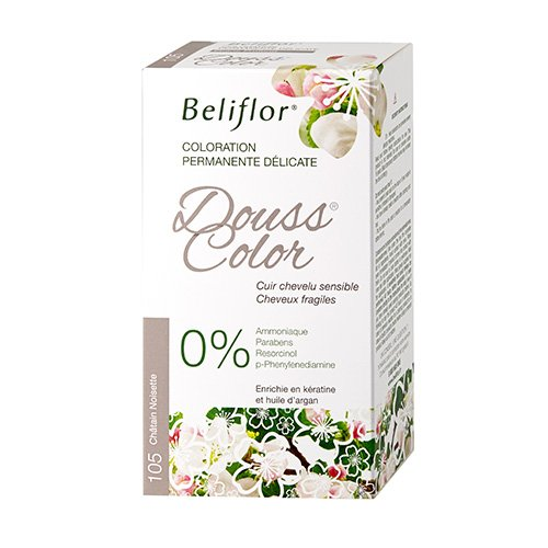 Beliflor Dousscolor Coloration Permanente N°105 Châtain Noisette 133 ml