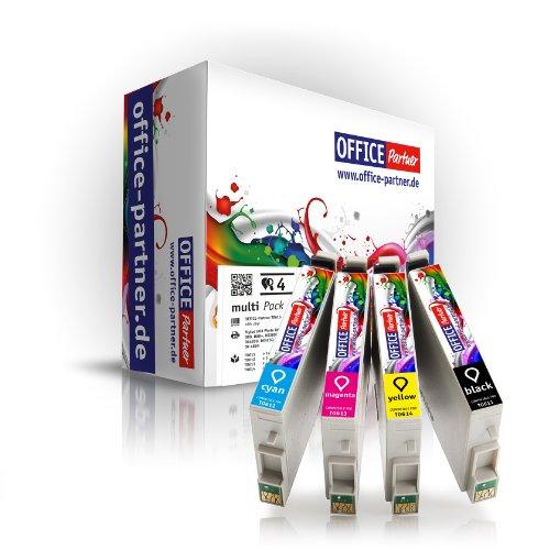 MultiPack 4 cartucce per stampanti compatibili per Epson T0615 con chip per la Epson Stylus D68 a / D68 PE / D88 / D88 PE / D88 più; Stylus DX 3800 / DX 3850 / DX 3850 Plus / DX 4200 / DX 4250 / DX 4800 / DX 4850 / DX 4850 Più