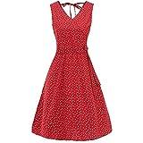Discount Boutique Ärmellose Spitze A-Linie Rock Blusenkleid Retro-V-Ausschnitt Kurzarm Kleid romantisch Elegantes Kleid