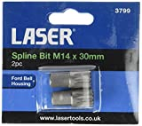 Laser 3799 Spline Bit M14 30mm 2pc