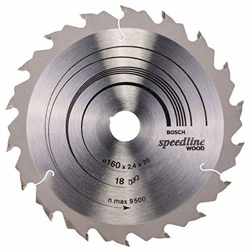 Bosch Professional Zubehör 2608640787 Kreissägeblatt Speedline Wood 160x20x2,2 mm, 18