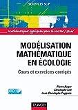 Image de Modélisation mathématique en écologie : Cours et exercices corrigé