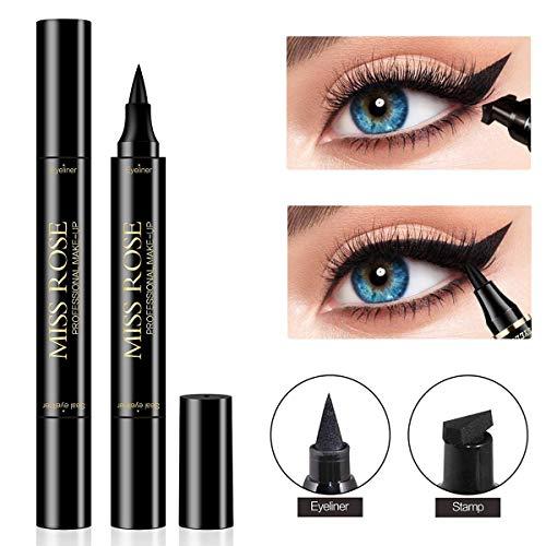Wing Eyeliner Stempel Make-up Doppelköpfe perfekter Winged Cat Eye-Look, wasserdicht, wisch- und schweißfest, Flügel im Vamp-Stil