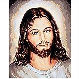 XQWZM Pittura Diamante Pieno Trapano Gesù Cristo Mosaico Pittura Diamante Fai da Te Punto Croce Ricamo Decorazioni per La Casa, 70X50Cm