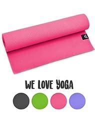 Yogamatte - We Love Yoga - 180 x 60 x 0,6cm extrem rutschfest mit optimaler Dämpfung, leicht und Schadstofffrei - für Yoga, Pilates, Stretching, Gymnastik - von Zen Power, in vier verschiedenen Farben