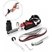Drillpro DIY Mini lijadora de cinta, essort Lima eléctrica adaptador para amoladora angular de 4pulgadas de 100mm, 15x 452mm, 800W