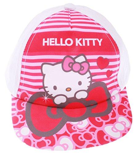 24f4476d3bfd Hello kitty Casquette bébé Fille Pois Blanc et Rose de 9 à 36mois (48 (