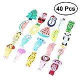 Frcolor Cartoon Haarspangen, Tier Obst gedruckt Snap Haarnadeln Haarspangen für Babys Mädchen Kleinkinder Kinder Kinder Teens (40Pcs)