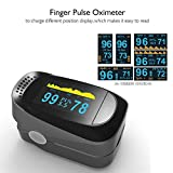 Pulse Reader Oximeter, Accurate Finger Tip Pulse Oximeter Digital SP02 Pediatric Pulse Oximeter with 8 Hours Sleep Heart Rate Monitor for Kids Adults(Black Gray)