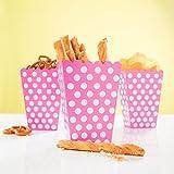 PartyMarty 24x Snackbox Popcorn Tüte Happy Dots in Pink - wunderschöne Boxen mit Punkten für Snacks, Süßigkeiten & Geschenke GmbH