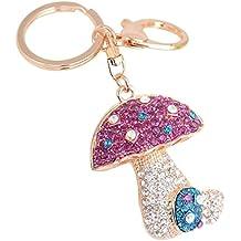 c961a20abd2a Kanggest Llaveros de Coche Seta Cristal Pequeños Cadena de Clave Pendant  Key Holder Para Decoración del