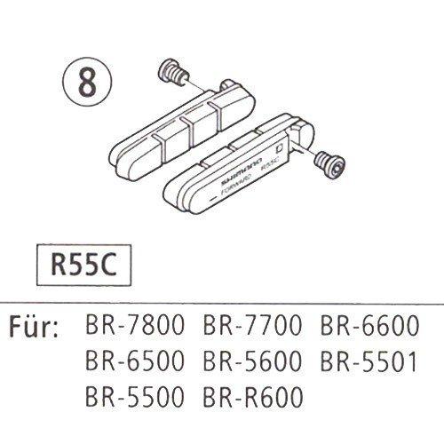 Shimano Teile Bremsgummi R55C Carbon Paar Dura-Ace 7700 -