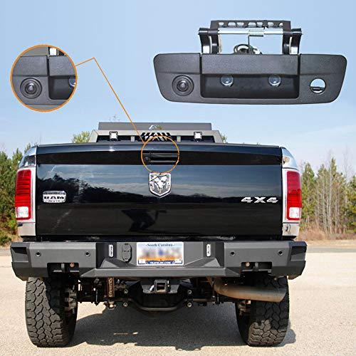 Auto Dritte Dachoberseitenbremse-Lampenkamera Bremslicht-hintere Ansicht-Unterstützungskamera für 2009-2018 Dodge Ram 1500 2500 3500 Tailgate Handle truch -