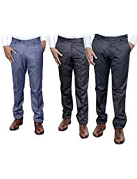 Indistar Combo Offer Mens Formal Trouser (Pack Of 3) - B01JRR1IAC