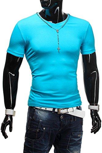 Herren T-Shirt Body-Fit basic ID1260 Blau