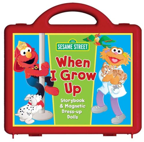 Grow Up Book and Magnet Set: Storybook and Magnetic Dress-up Dolls (Sesame Street Dress Up)