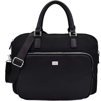 David Jones - Men s Briefcase Handbag - 13 Inch Business Laptop Bag -  Portfolio PU Leather - Messenger Satchel College School Work - Shoulder  Crossbody ... a7ad2376f4fcc