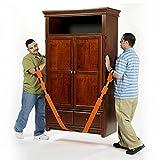 Vetrineinrete Cinghie di sollevamento facilitato per mobili elettrodomestici divani per sollevare, spostare e trasportare oggetti pesanti traslochi 2.5mt C38