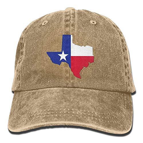 Aoliaoyudonggha Texas Map Flag Adjustable Baseball Caps Denim Hats Cowboy Sport Outdoor