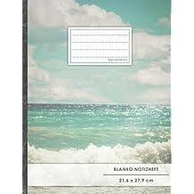 """Blanko Notizbuch • A4-Format, 100+ Seiten, Soft Cover, Register, """"Mittelmeer Reise"""" • Original #GoodMemos Blank Notebook • Perfekt als Zeichenbuch, Skizzenbuch, Blankobuch, Leeres Tagebuch"""