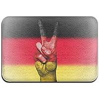 diyabcd Alemania bandera paz Felpudo antideslizante para casa jardín puerta alfombra Felpudo piso almohadillas