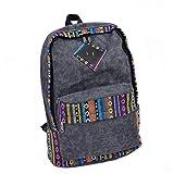 Nasis neu Vintage retro exotisch Damen Canvas Segeltuch Rucksack extra groß Daypacks für Campus College Camping und Außflug Multifunktion Tasche AL5014