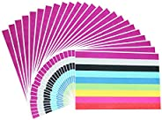 Sticky Neon Color Coding Labels Removable Small Circle Dot Stickers, 3/4 inch Diameter, 9 Colors, 24 Sheets, T
