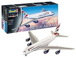 Revell A380-800 Maqueta Airbus A380 - 800 British Airways, Kit Modelo, Escala 1:144 (03922), 50,4 cm de Largo