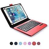 Funda tipo Folio Cooper Cases (TM) Infinite Executive para tablet de Huawei MediaPad 10 FHD, 10 Link, 10 Link+ con teclado Bluetooth en Rojo (soporte incorporado, teclado QWERTY extraíble, batería recargable)