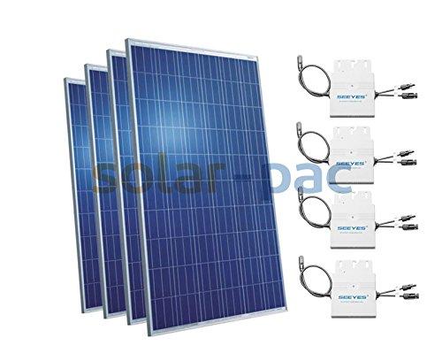 basic Photovoltaikanlage 1,06kWp | Plug & Play Solaranlage zur Hausnetzeinspeisung