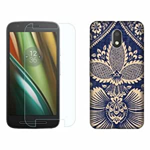 Printland Tempered Glass + Back Cover Combo For Moto E3