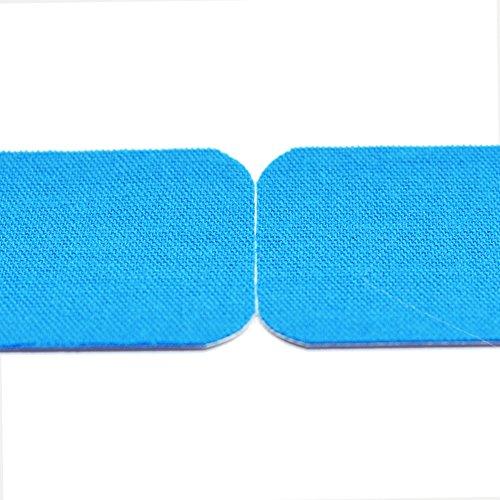 Meglio vorgeschnittenes Kinesiologie Tape 5cm x 5m Rolle - Tapeverband - Sporttape für Muskeln - 100% Baumwolle - 3