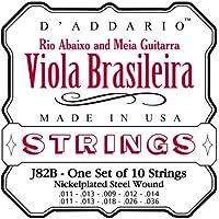 D'Addario J82B - Juego de cuerdas para viola de acero y níquel