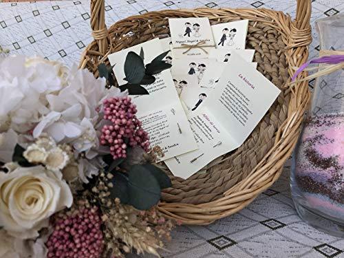 ALFILERES DE NOVIA. Detalles para tus invitados. Regalos de boda. 50 unidades