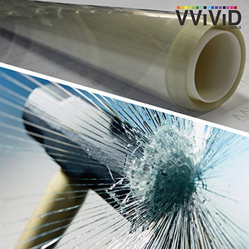 VViViD Clear Protective 4mil Vinyl Window Glass Wrap Shatterproof Security Film 60 x 78 Large Window Roll by VViViD - Windows-security-film