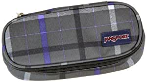 JanSport Hall Pass Pencil Case forge grey london plaid Size:22.5 cm