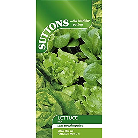 Suttons Seeds Iceberg/Cos and Butter Head Lettuce Mixed Seeds